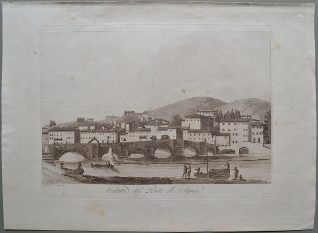 Toscana. VEDUTA DEL PONTE DI SIGNA.