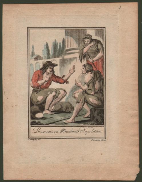Campania. NAPOLI. Lazarons ou Mendiants Napolitains.