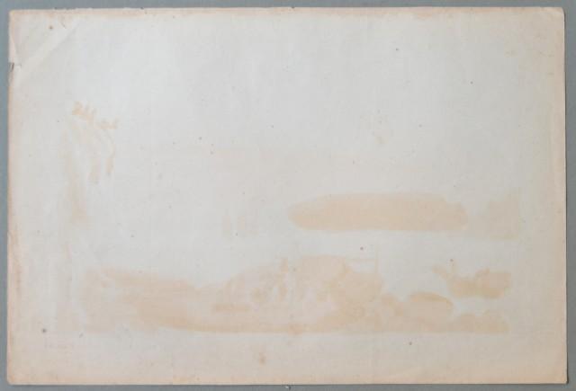MALTA. Città Valetta, Veduta generale. Bella litografia.