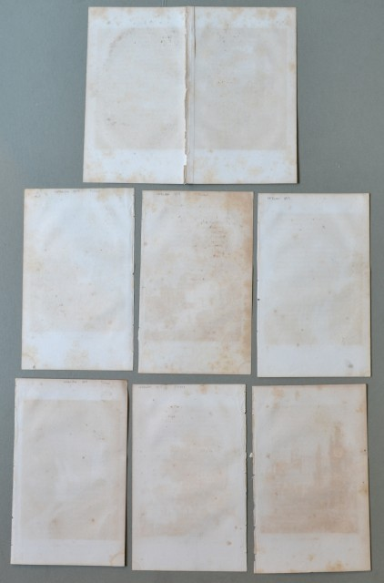 LAZIO - TIVOLI. Insieme di 7 vedute incise su rame tratte da Lettres sur l'Italie.