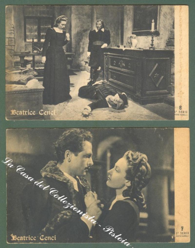 CINEMA. Film Beatrice Cenci. Due cartoline d'epoca.