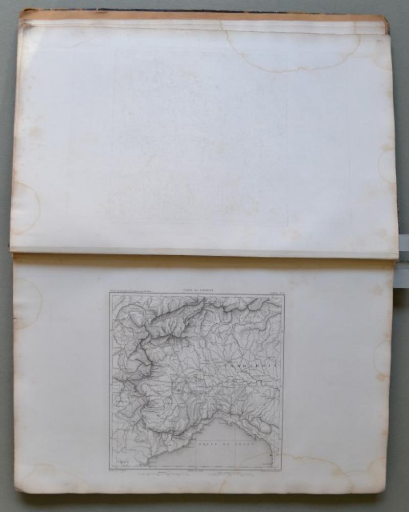 Atlante storico. THIERS. ATLAS DE L'HISTOIRE DU CONSULAT ET DE EMPIRE...Parigi, Paulin & Lheureux et C., 1859. In folio...