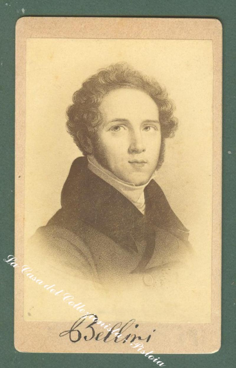 BELLINI VINCENZO (1804 – 1835), compositore. Foto all'albumina (circa 1870)