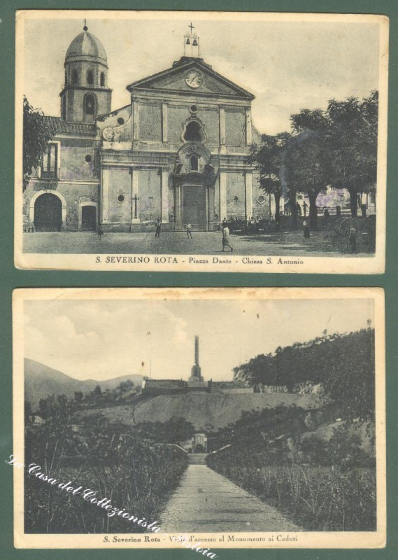 Campania. SAN SEVERINO ROTA, Salerno. Due cartoline viaggiate.