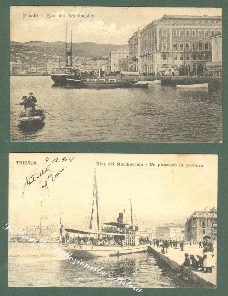 Friuli Venezia Giulia. TRIESTE. 2 cartoline d'epoca viaggiate