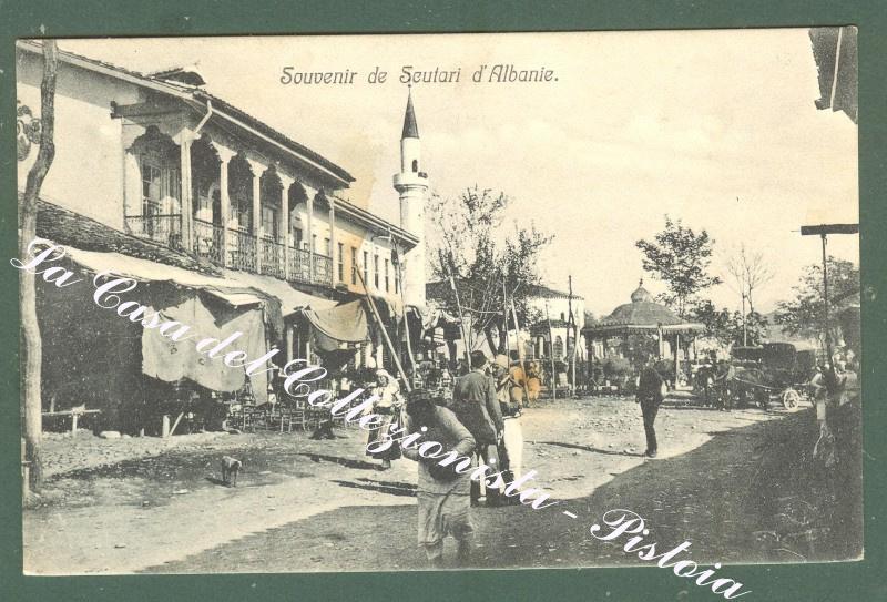 ALBANIA. Scutari. Cartolina d'epoca viaggiata