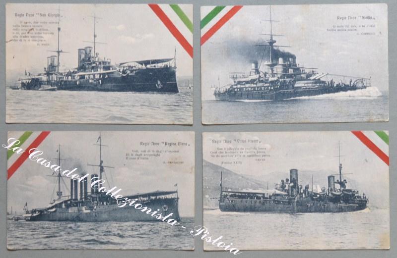 MARINA ITALIANA. Otto cartoline d'epoca, di cui 4 viaggiate nel 1918...