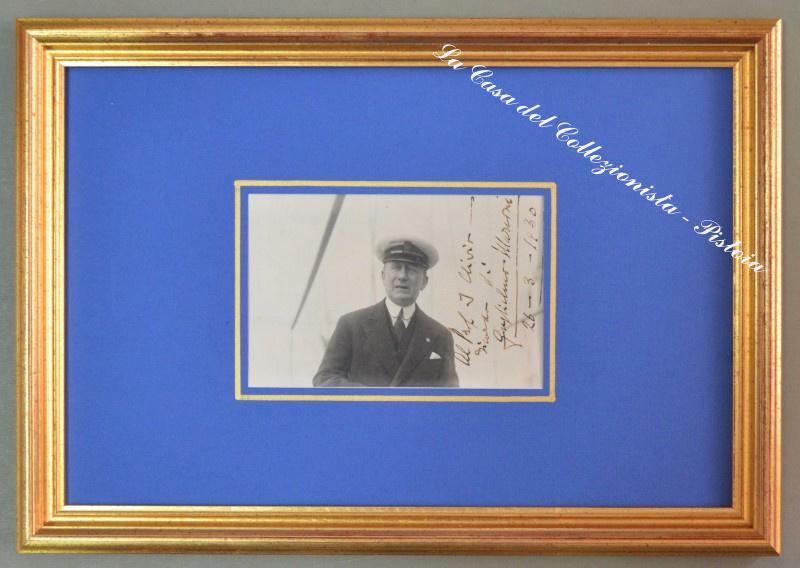 MARCONI GUGLIELMO. Scienziato italiano (1874 - 1937). Bella fotografia autografa...