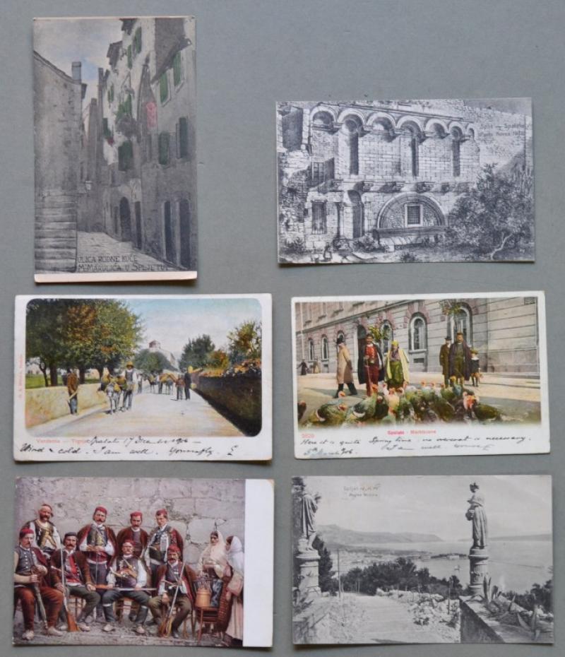 CROAZIA. SPALATO. 6 cartoline d'epoca