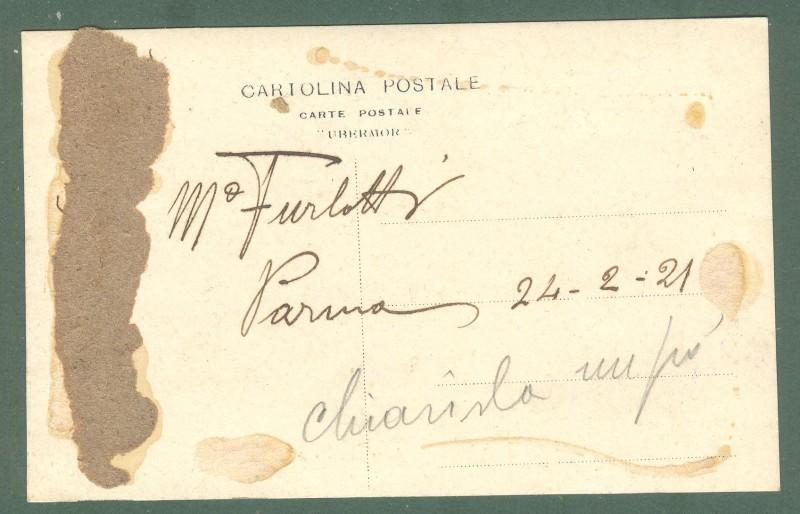 FURLOTTI DON ARNALDO (San Secondo Parmense 1880 - Parma 1958). Compositore e organista. Foto cartolina con firma
