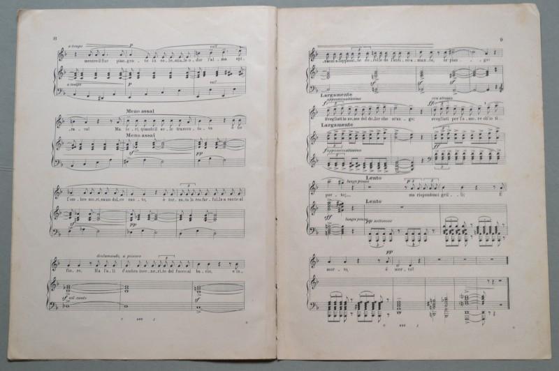 BROGI RENATO (1873 - 1924). Musicista italiano. Dedica autografa firmata e datata Firenze 1 Marzo 1906...