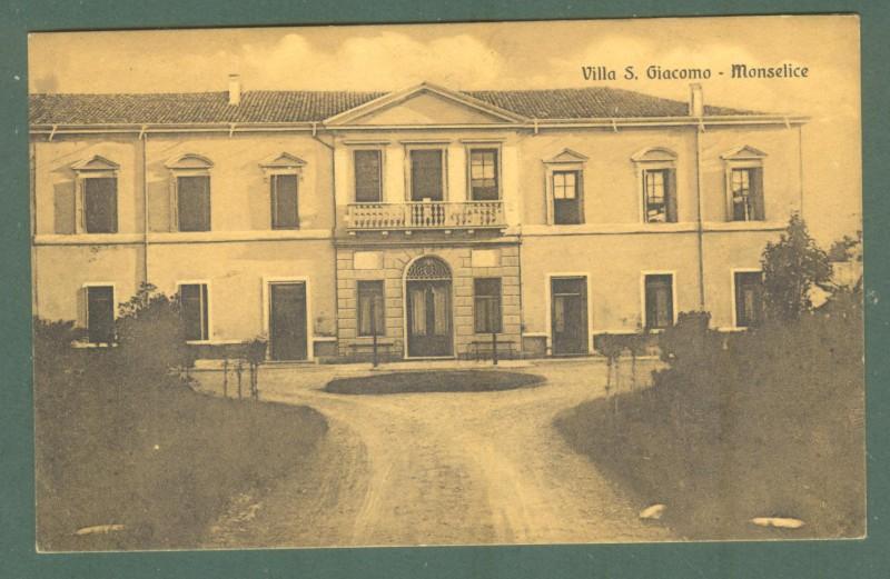 Veneto. MONSELICE, Padova. Villa S. Giacomo. Cartolina d'epoca viaggiata