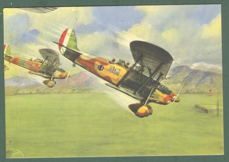 AVIAZIONE. Arma aeronautica. Cartolina d'epoca viaggiata