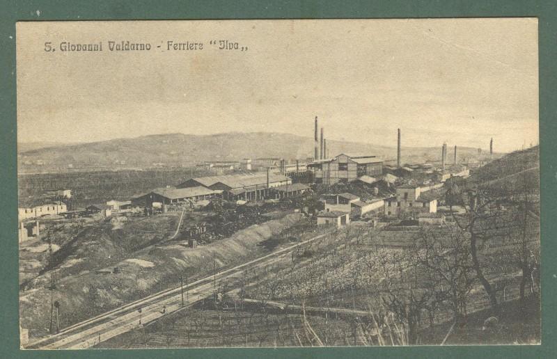 Toscana. S. GIOVANNI VALDARNO, Arezzo. Ferriere Ilva. Cartolina d'epoca