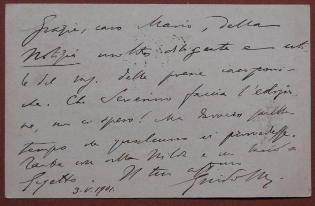 MAZZONI GUIDO (Firenze 1859 - 1953). Letterato e critico letterario italiano