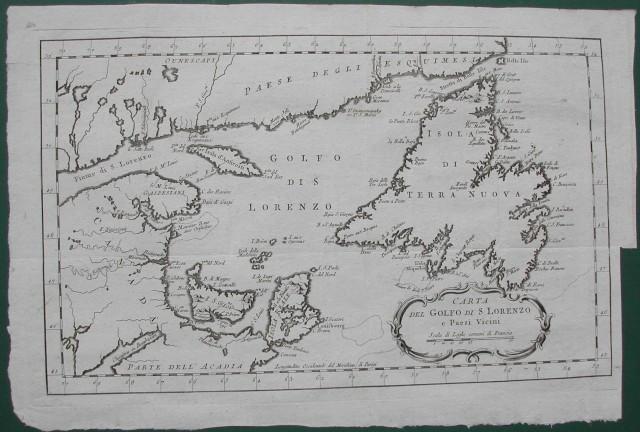 Carta del golfo di S. Lorenzo e paesi vicini