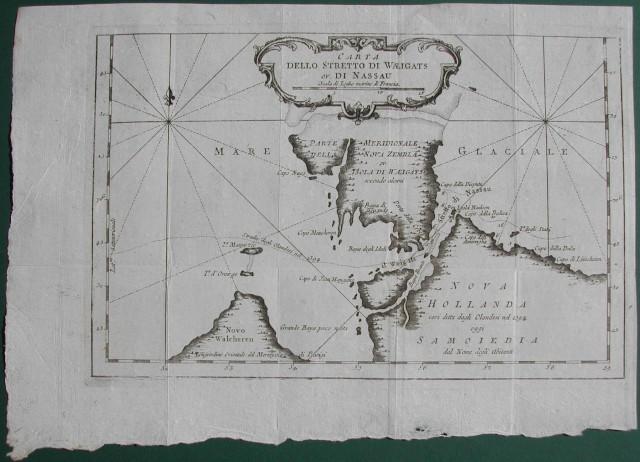Carta dello stretto di Waeigats ovvero di Nassao