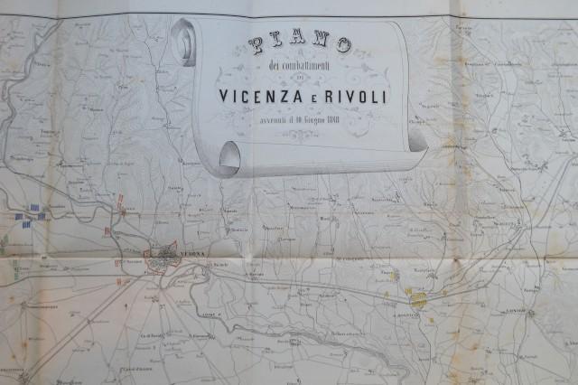 VENETO, Piano dei combattimenti di Vicenza e Rivoli avvenuti il 10 giugno 1848.