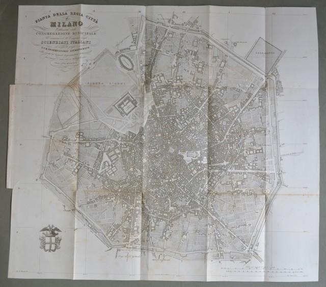 LOMBARDIA '– MILANO. Grande carta della città