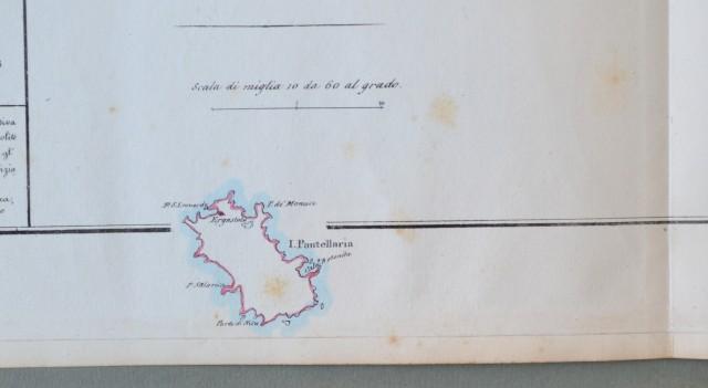REGNO DI NAPOLI, VALLE MINORE DI TRAPANI. Grande carta geografica. Raffigura i distretti di Trapani, Marzara e Alcamo.