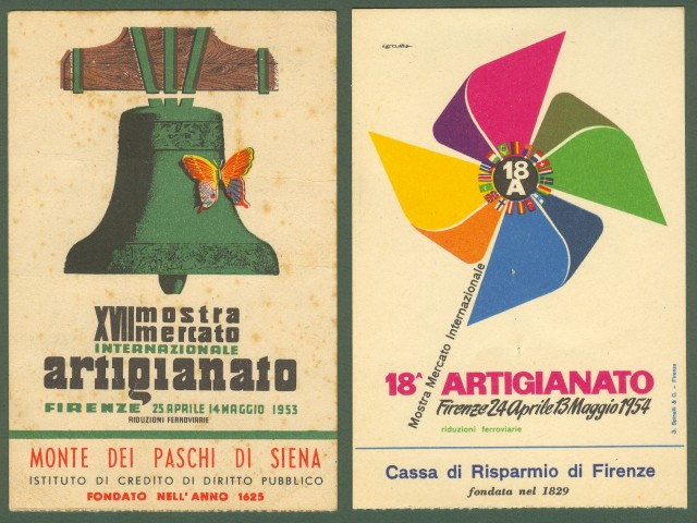 MOSTRA DELL'ARTIGIANATO. Firenze 1953 e 1954.