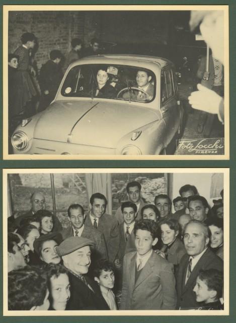CICLISMO. GINO BARTALI. 2 foto (ciascuna cm15x10) degli anni '50.