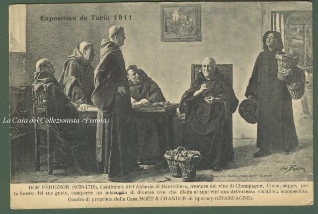 (Vini - Spumanti - Champagne) Exposition de Turin 1911. Dom Pèrignon. Champagne Moet & Chandon.