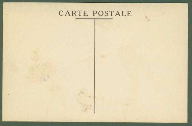 LA BRETELLE PARISIANA. Cartolina disegnata a colori.