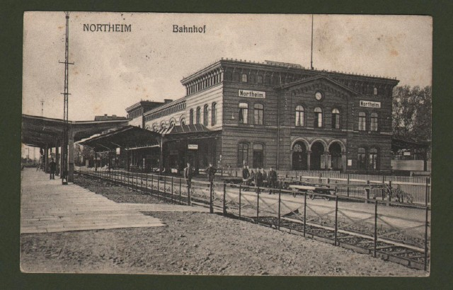 GERMANIA. Northeim, Bahnhof. Viaggiata 1915.
