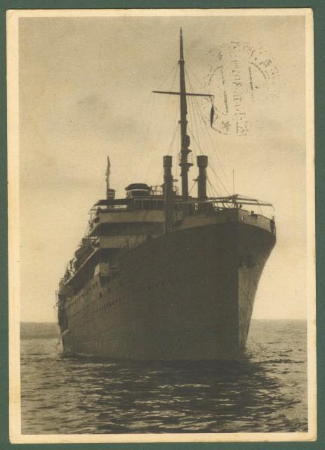 NAVIGAZIONE. Compagnia Adriatica di Venezia. Cartolina da Rodi del 11 ottobre 1924.