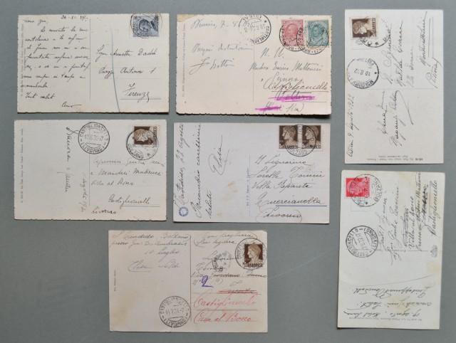 BOLZANO Provincia, (Trentino Alto Adige). Otto cartoline d'epoca viaggiate