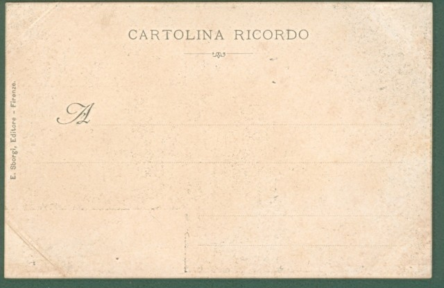 FESTE FIORENTINE. Palio de' Cocchi. Cartolina d'epoca inizio '900.