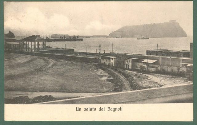 CAMPANIA. BAGNOLI, (Napoli). Un saluto da Bagnoli. Cartolina d'epoca viaggiata nel 1912