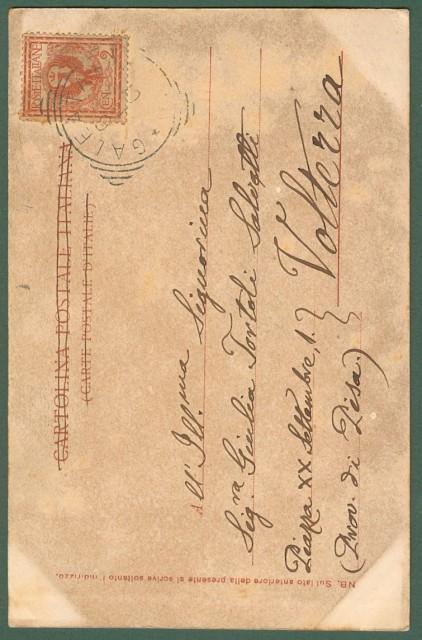 GALEATA, Forlì. Vecchia Pretura. Cartolina d'epoca viaggiata nel 1901.