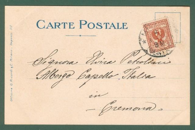 LA BOHEME di G. Puccini. Cartolina d'epoca a colori viaggiata nel 1904.