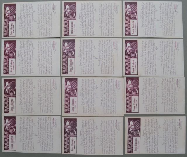 SCENA ILLUSTRATA di Firenze. 12 diverse cartoline pubblicitarie (a retro hanno diverse illustrazioni) non viaggiate, inizio '900.