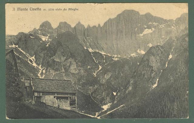 Veneto. MONTE CIVETTA, Belluno. Cartolina d'epoca viaggiata nel 1916.