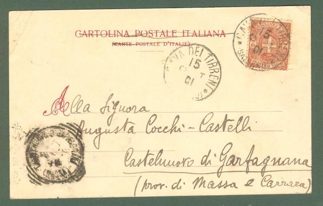 Campania. CAVA DEI TIRRENI, Salerno. Vallata della Trinità. Cartolina d'epoca viaggiata nel 1901.