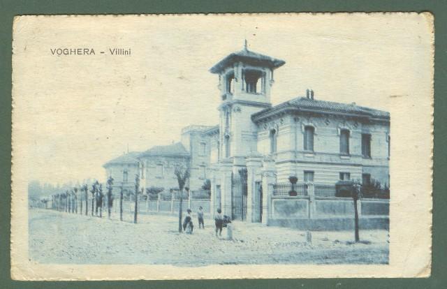 Lombardia. VOGHERA, Pavia. Villini. Cartolina d'epoca viaggiata nel 1912.