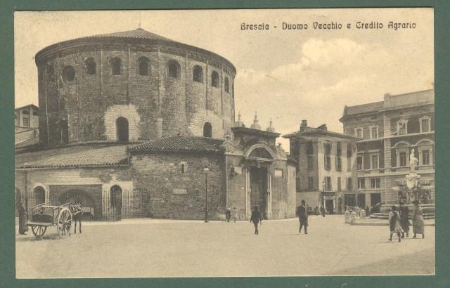 Lombardia. BRESCIA. Duomo Vecchio. Cartolina d'epoca viaggiata nel 1915.