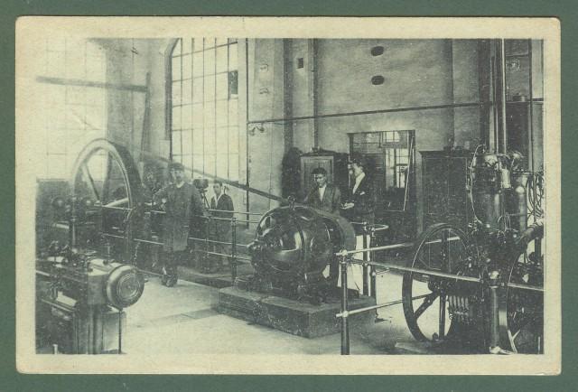 Marche. FERMO, Ascoli. Regio Istituto Ind. Naz. Reparto Centrale Elettrica. Cartolina d'epoca viaggiata nel 1921.