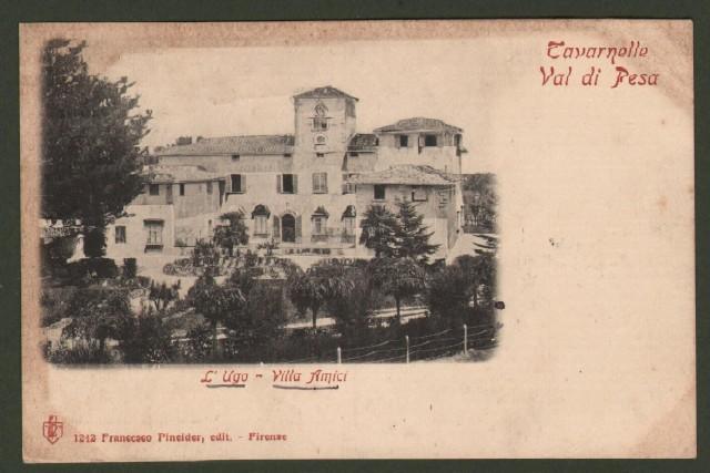 Toscana. TAVARNELLE VAL DI PESA (Firenze). L'Ugo, Villa Amici.