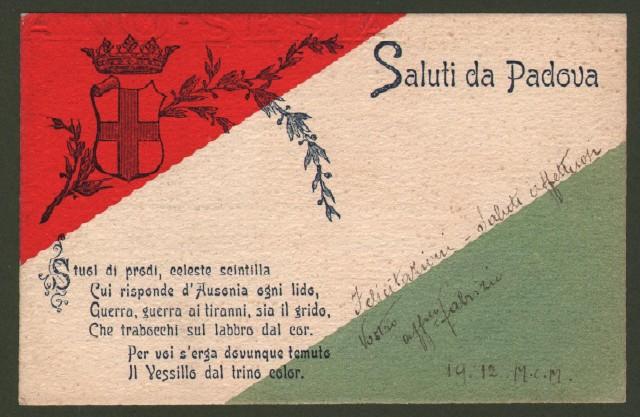 Veneto. PADOVA. Anno 1899. Cartolina commemorativa.