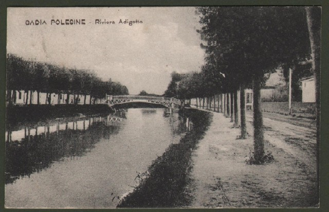 Veneto. BADIA POLESINE, Rovigo. Riviera Adigetto. Cartolina d'epoca viaggiata nel 1911