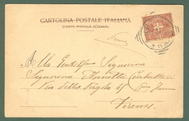 Toscana. EMPOLI, Firenze. Panorama. Cartolina d'epoca viaggiata nel 1901.