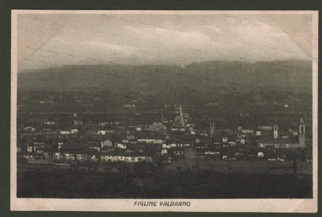 Toscana. FIGLINE VALDARNO, Firenze. Panorama.