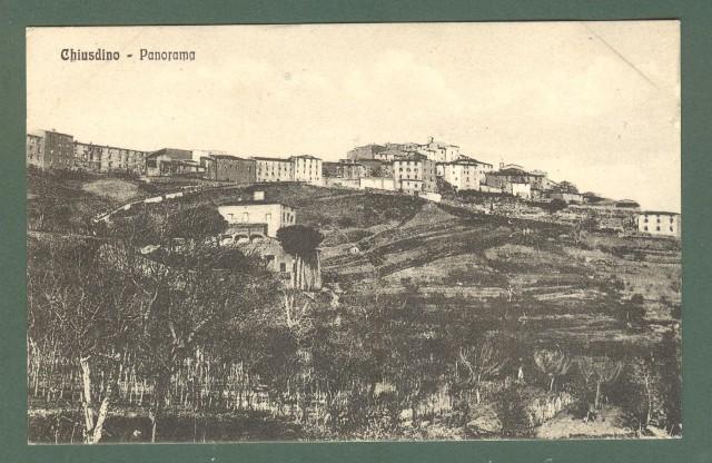 Toscana. CHIUDINO, Siena. Panorama. Cartolina d'epoca non viaggiata, circa 1925