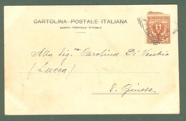 Toscana. RAPOLANO, Siena. Bagni Solfurei. Cartolina d'epoca viaggiata inizio 1900.