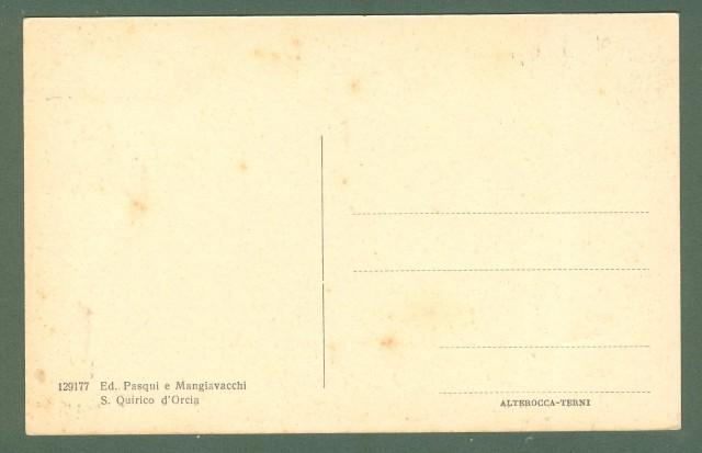Toscana. S. QUIRICO D'ORCIA, Siena. Porta Cappuccini. Cartolina d'epoca non viaggiata, circa 1930