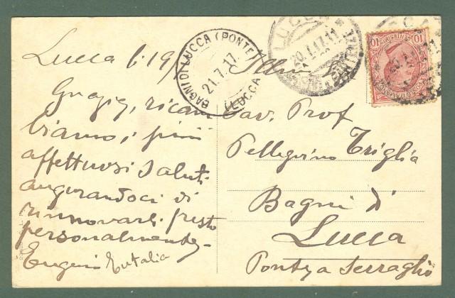 Toscana. LUCCA. Piazza e Teatro Giglio. Cartolina d'epoca viaggiata nel 1917